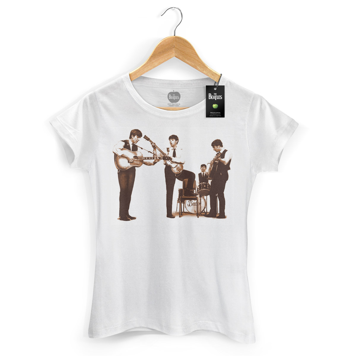 Camiseta Feminina The Beatles Picture Sepia  - bandUP Store Marketplace