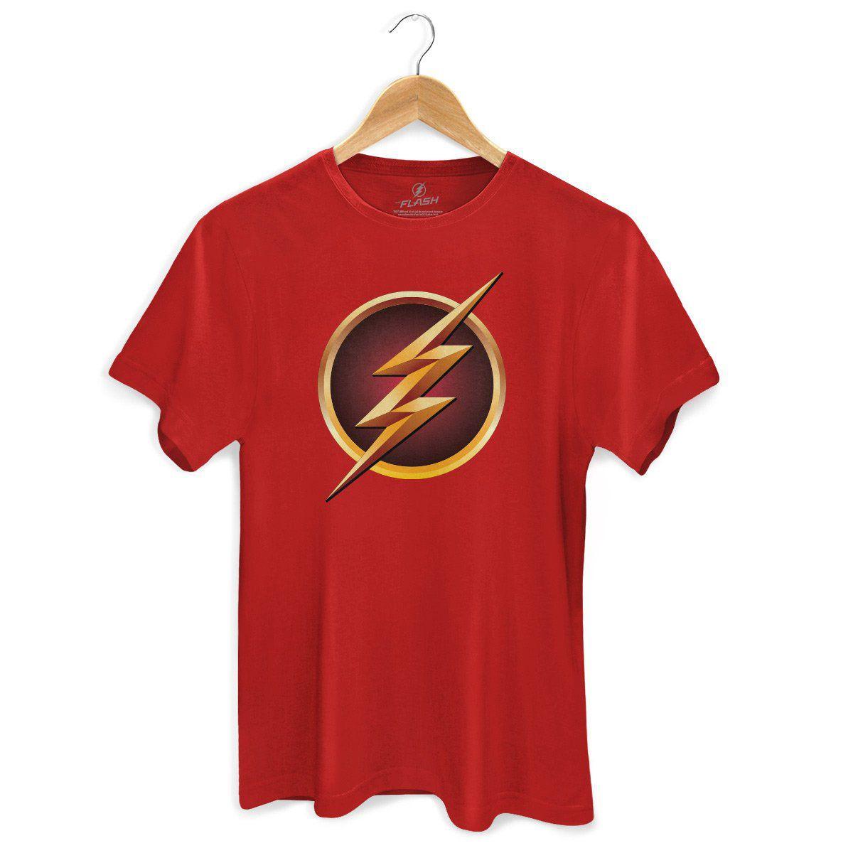 Camiseta Masculina The Flash Serie Logo Gold  - bandUP Store Marketplace