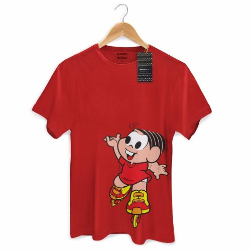 Camiseta Masculina Turma Da Mônica Kids Mônica Roller  - bandUP Store Marketplace