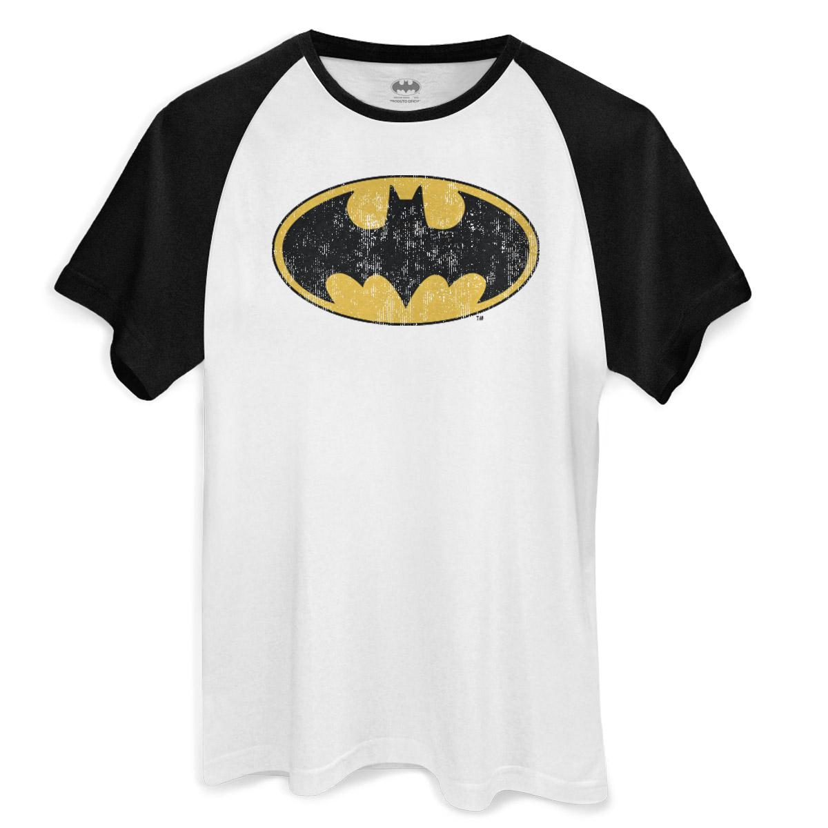 Raglan Masculina Batman Logo Clássico  - bandUP Store Marketplace