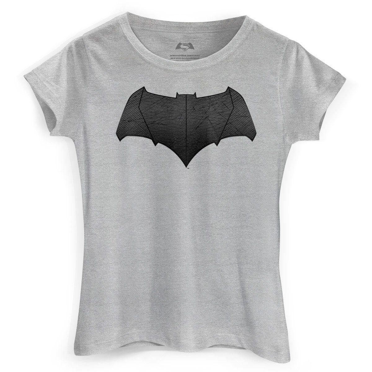 Camiseta Feminina Batman Vs Superman Logo Batman  - bandUP Store Marketplace
