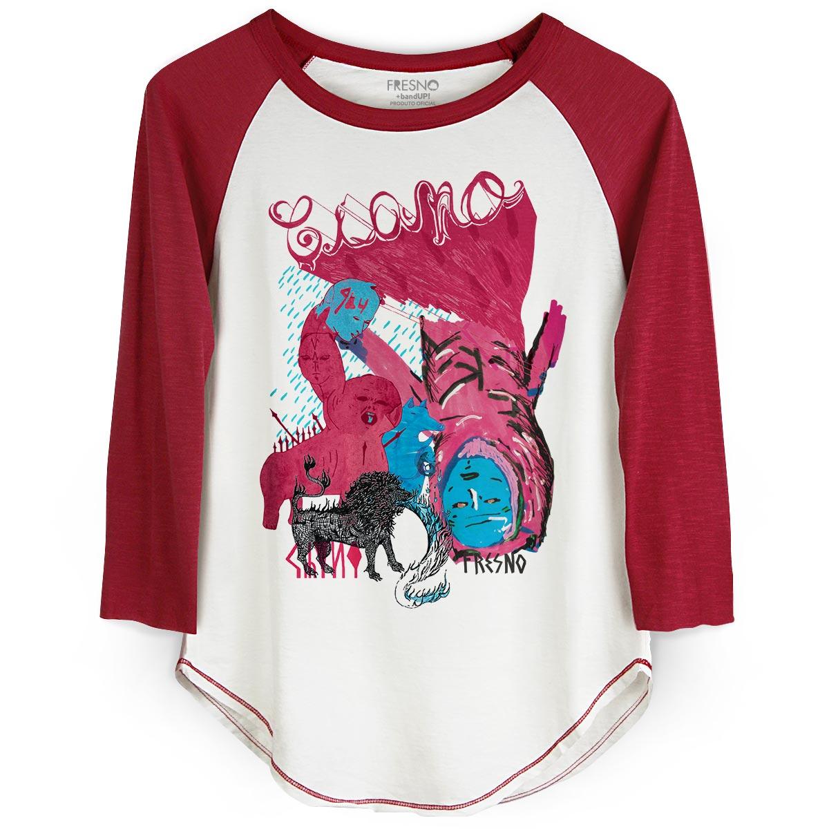 Camiseta Raglan Feminina Fresno Ciano Enxergar  - bandUP Store Marketplace