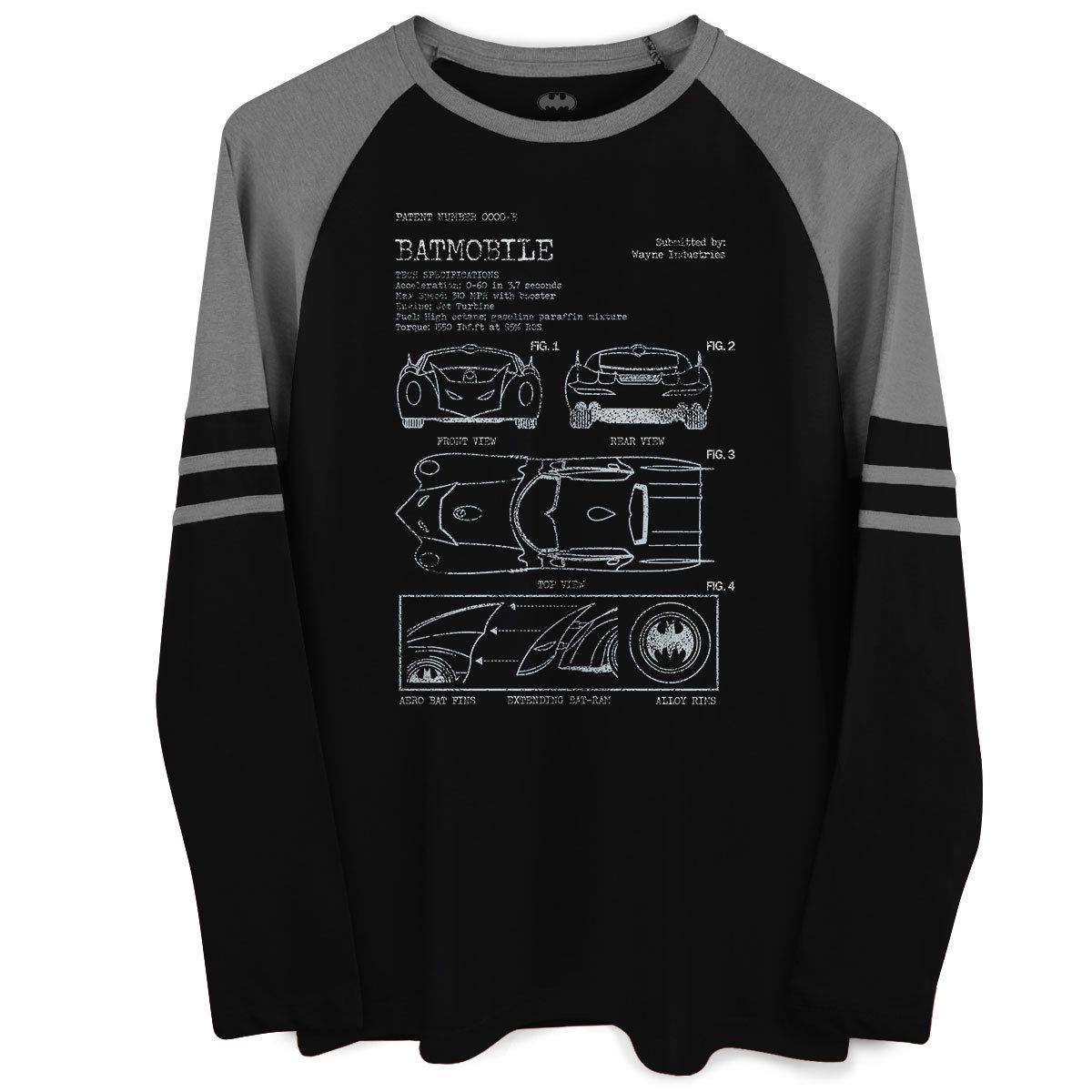 Blusa Raglan Masculina Batman Blueprint  - bandUP Store Marketplace