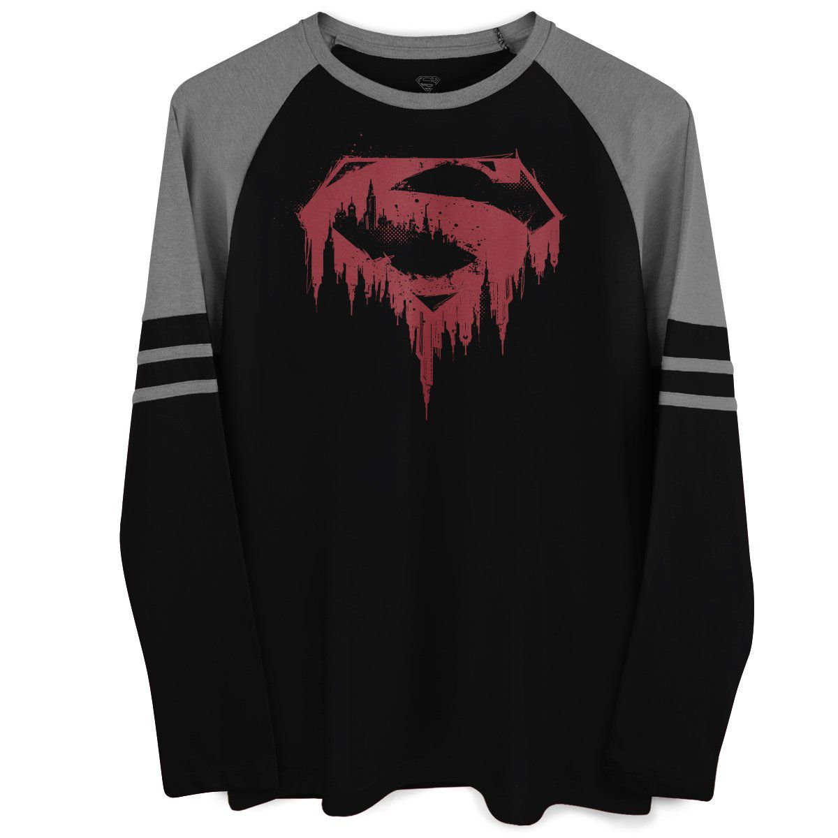 Blusa Raglan Masculina Superman Bleeding  - bandUP Store Marketplace