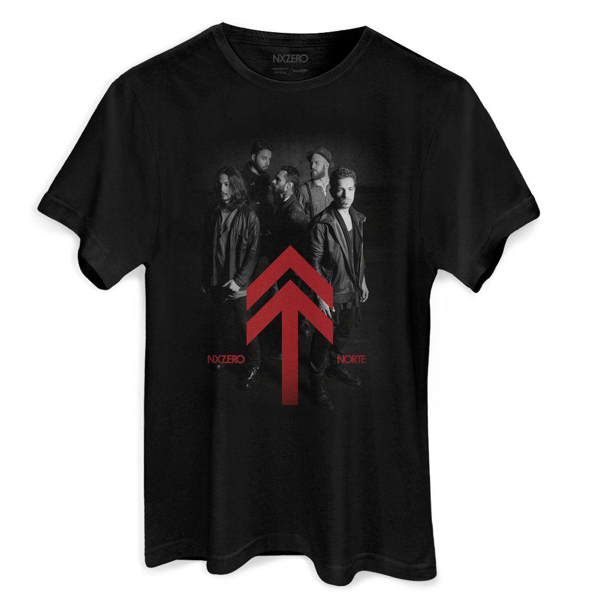 Camiseta Masculina NXZero Norte Foto  - bandUP Store Marketplace