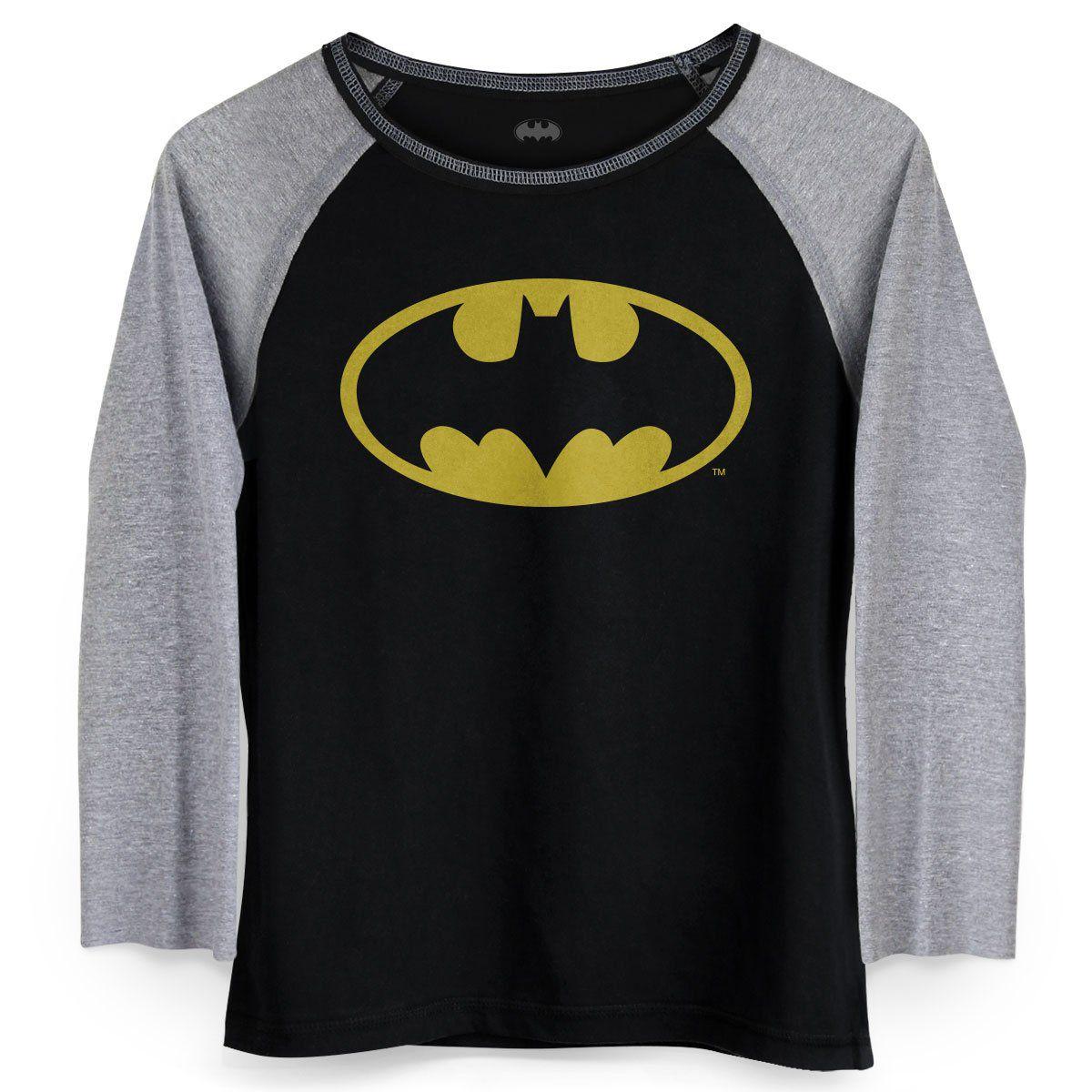 Camiseta Raglan Feminina Batman Logo Clássico  - bandUP Store Marketplace