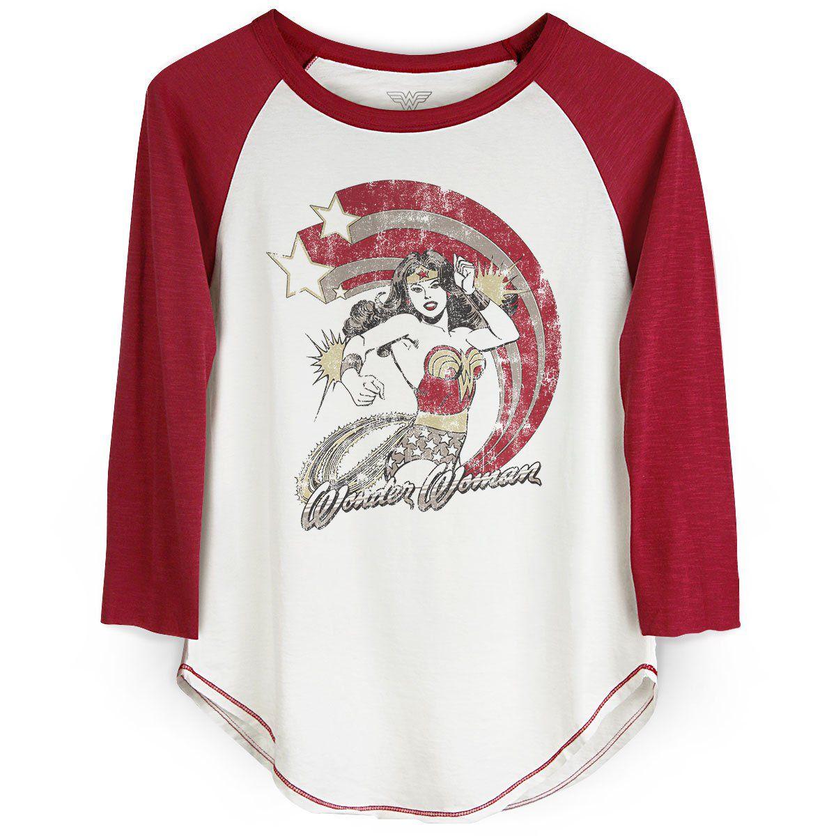 Camiseta Raglan Feminina Wonder Woman Power Stars  - bandUP Store Marketplace