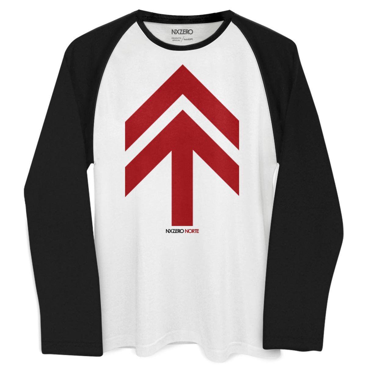 Camiseta Raglan Masculina NXZero Norte  - bandUP Store Marketplace