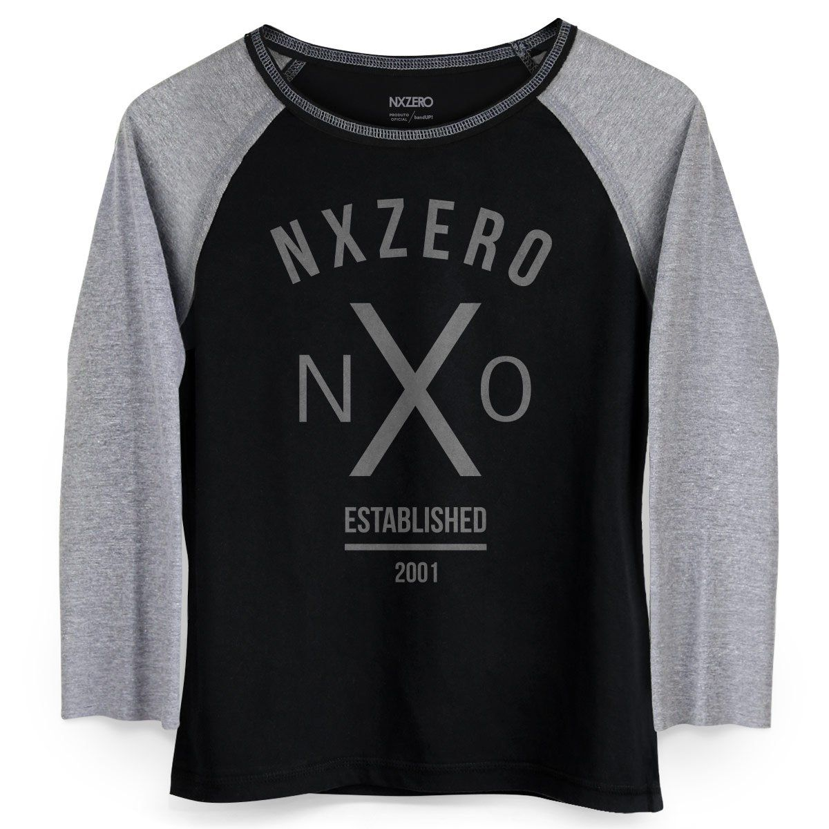 Camiseta Raglan Feminina NXZero NX0  - bandUP Store Marketplace