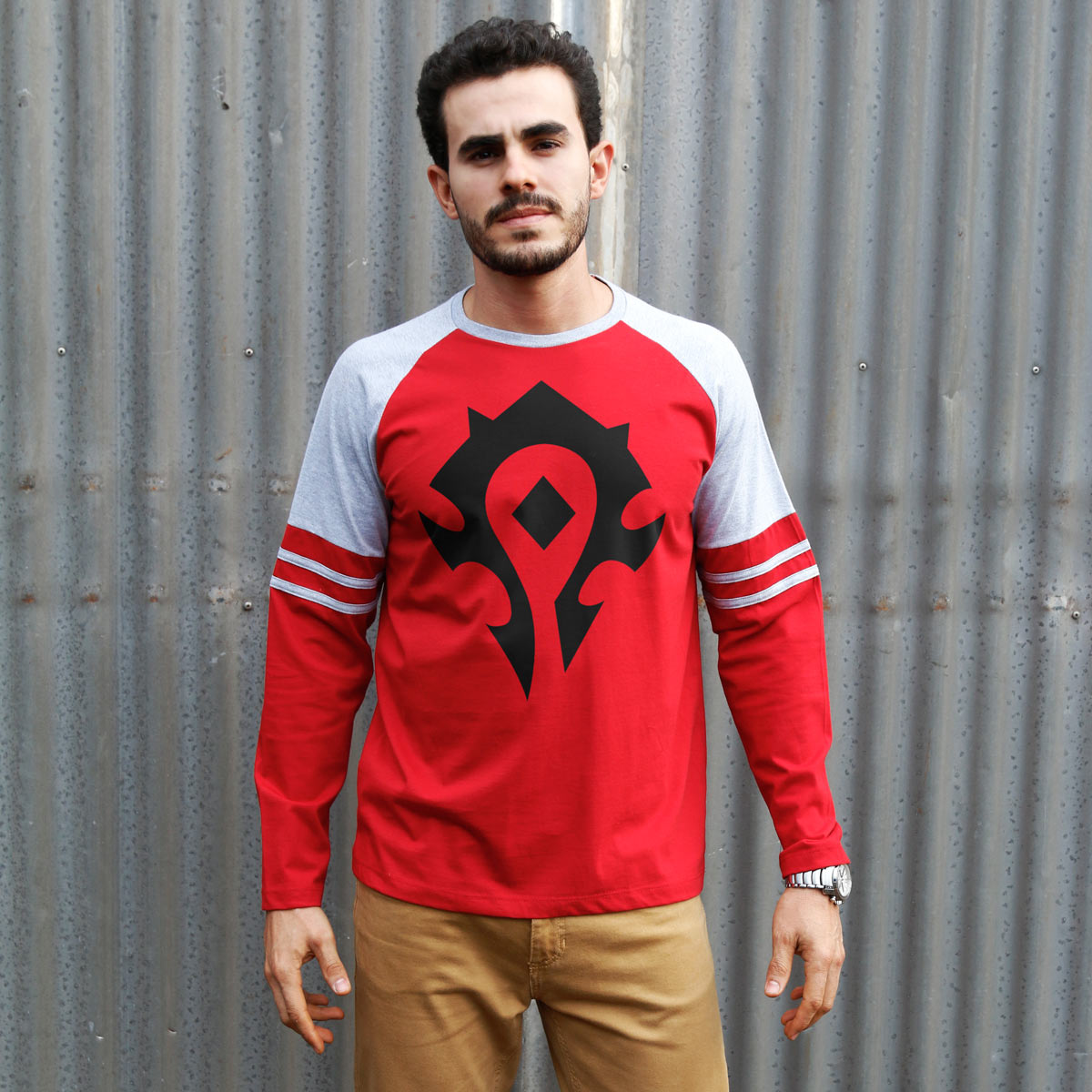 Blusa Manga Longa Masculina World of Warcraft Horda  - bandUP Store Marketplace