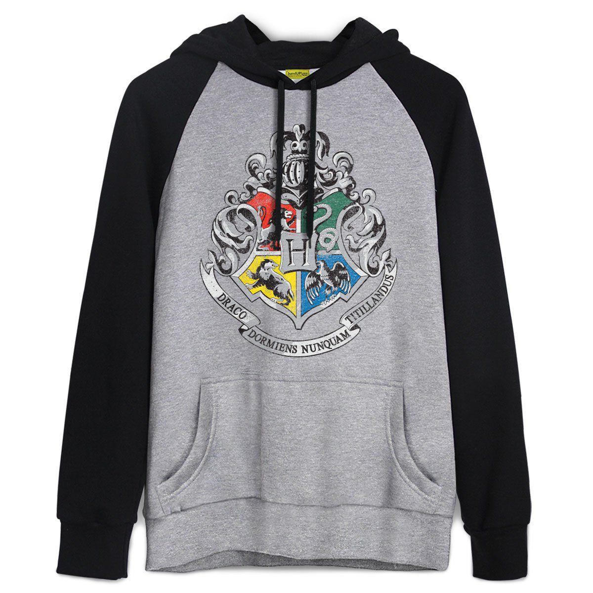 Moletom Raglan Harry Potter Brasão de Hogwarts  - bandUP Store Marketplace