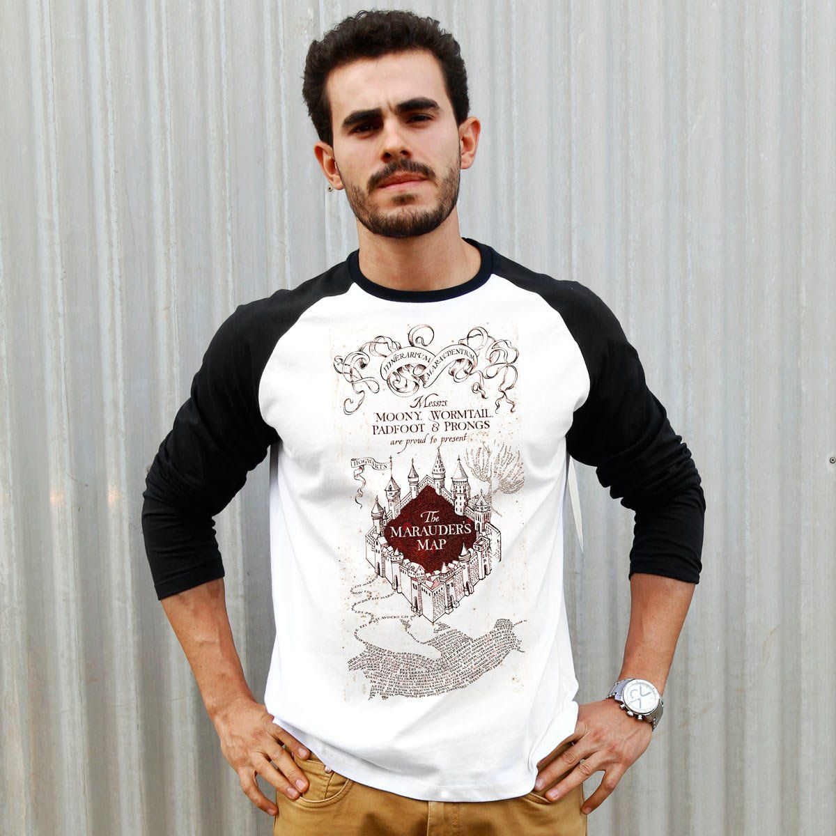 Camiseta Manga Longa Masculina Harry Potter The Marauder´s Map  - bandUP Store Marketplace