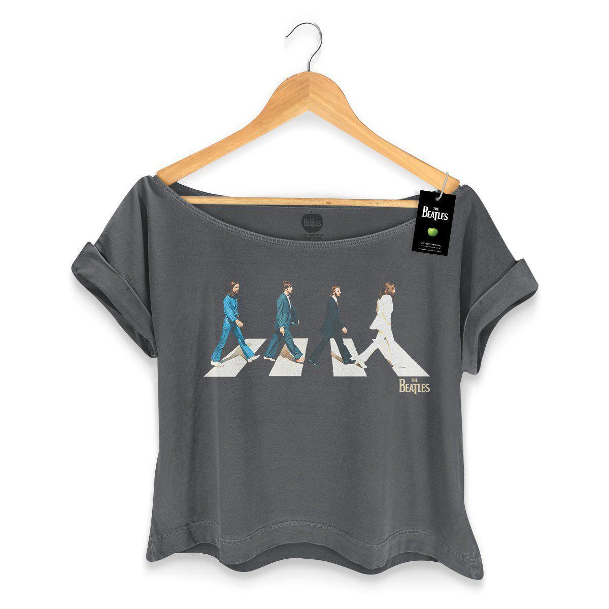 T-shirt Premium Feminina The Beatles Abbey Road  - bandUP Store Marketplace