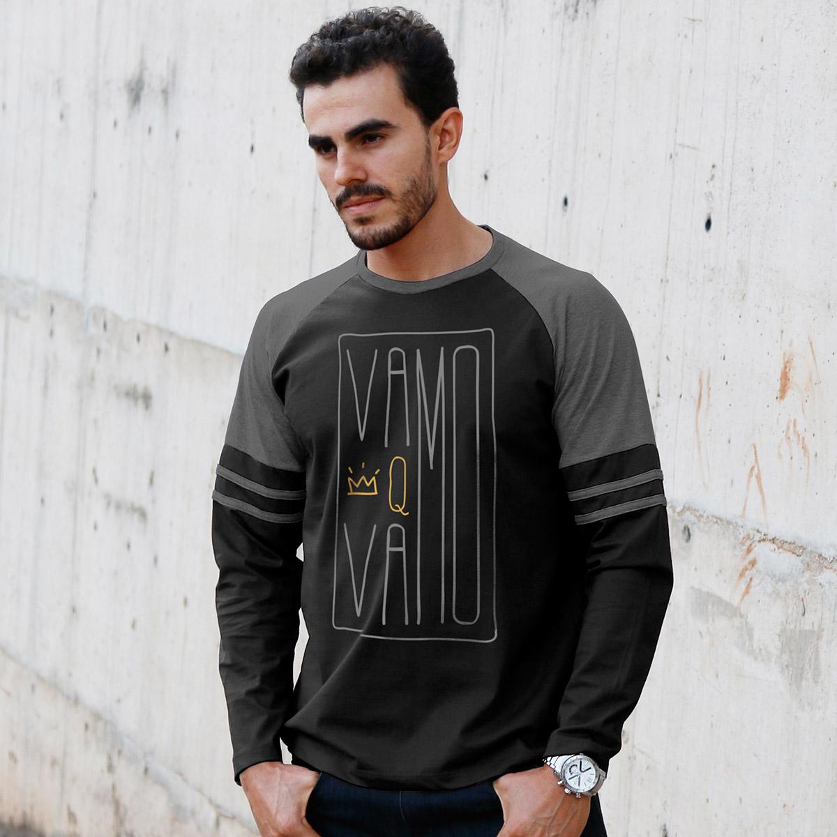 Blusa Raglan Masculina Thiaguinho Hoje é Dia #Vamo  - bandUP Store Marketplace