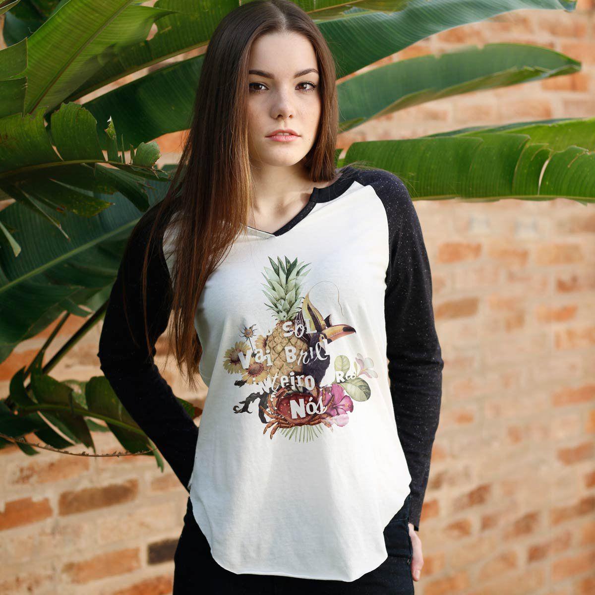 Camiseta Manga Longa Feminina Ivete Sangalo O Sol  - bandUP Store Marketplace