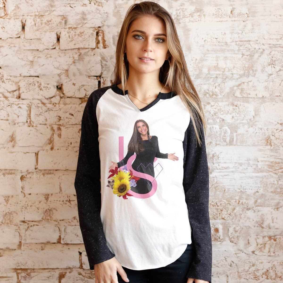 Camiseta Manga Longa Feminina Ivete Sangalo IS Girassóis  - bandUP Store Marketplace