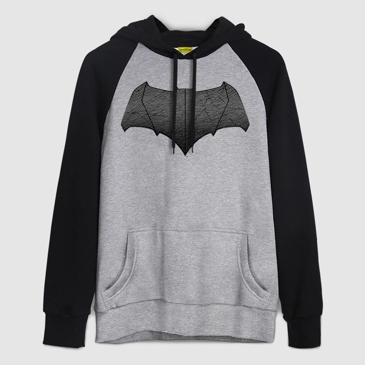 Moletom Raglan Batman VS Superman Logo Batman  - bandUP Store Marketplace