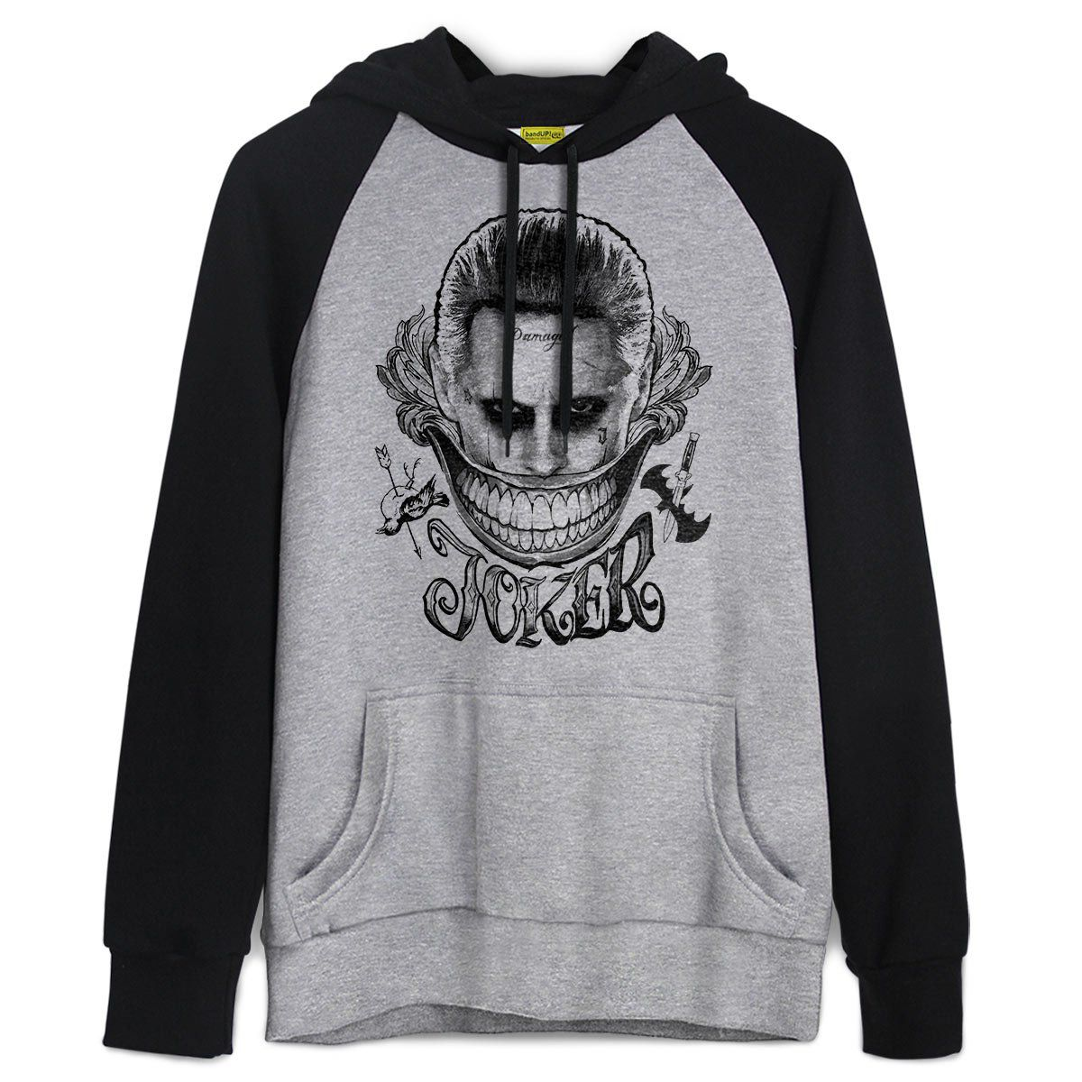 Moletom Raglan Esquadrão Suicida The Joker Damaged  - bandUP Store Marketplace