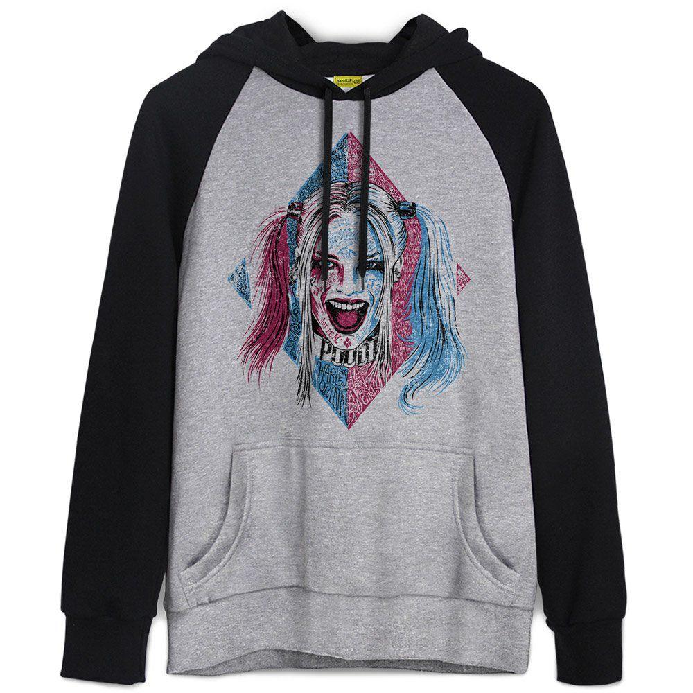 Moletom Raglan Esquadrão Suicida Harley Quinn Puddin  - bandUP Store Marketplace