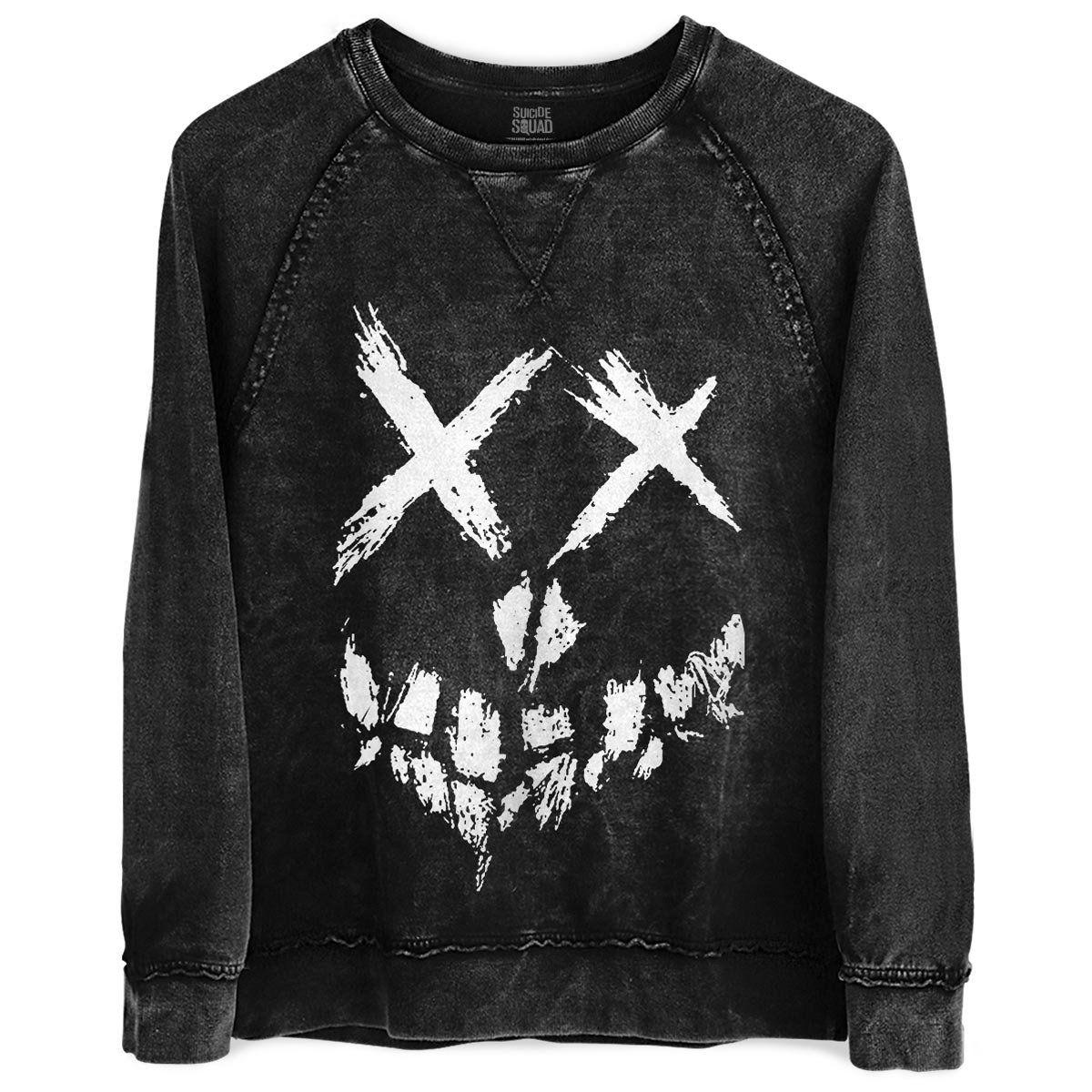 Moletinho Marmorizado Esquadrão Suicida Skull Logo  - bandUP Store Marketplace