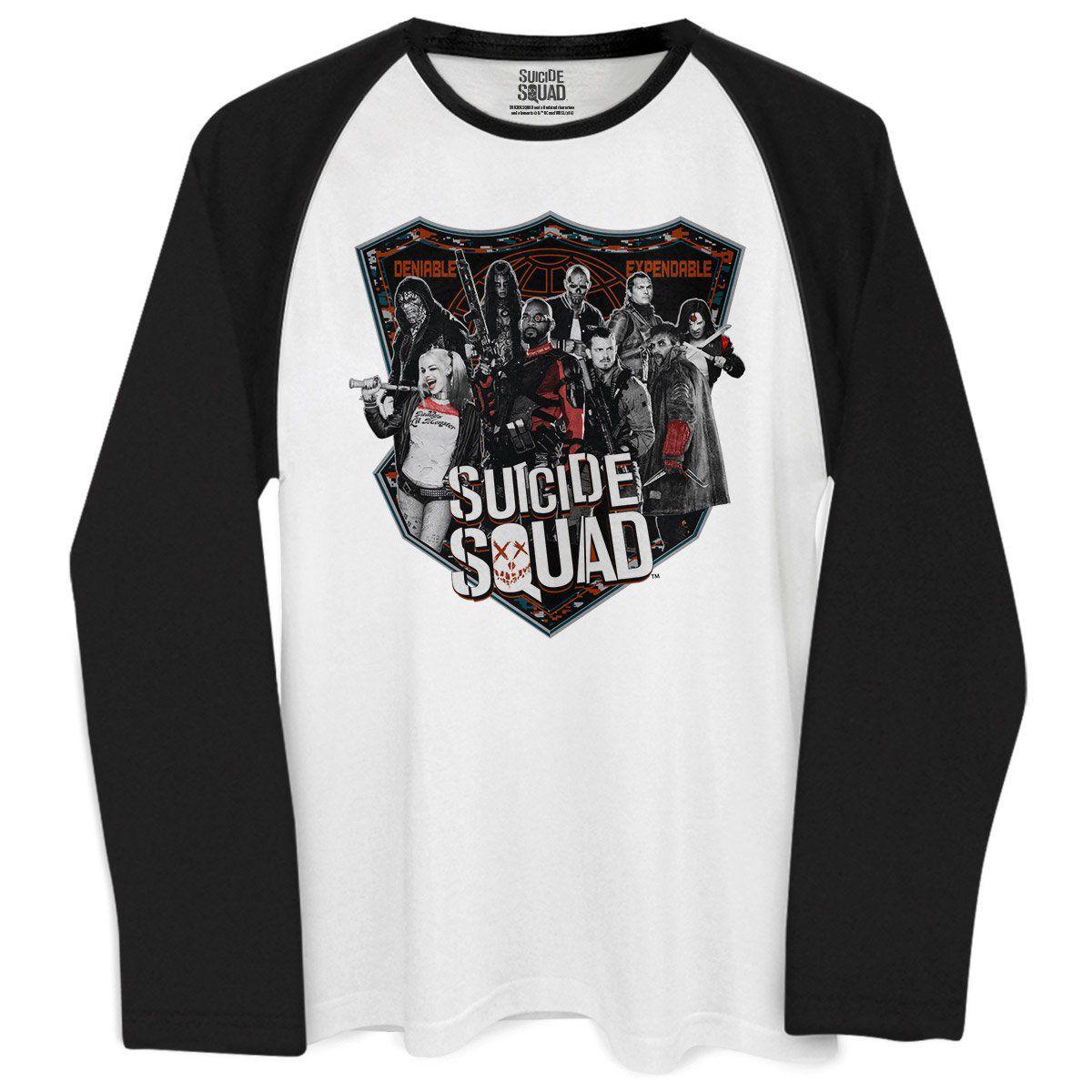 Camiseta Manga Longa Masculina Esquadrão Suicida Deniable Expendable  - bandUP Store Marketplace