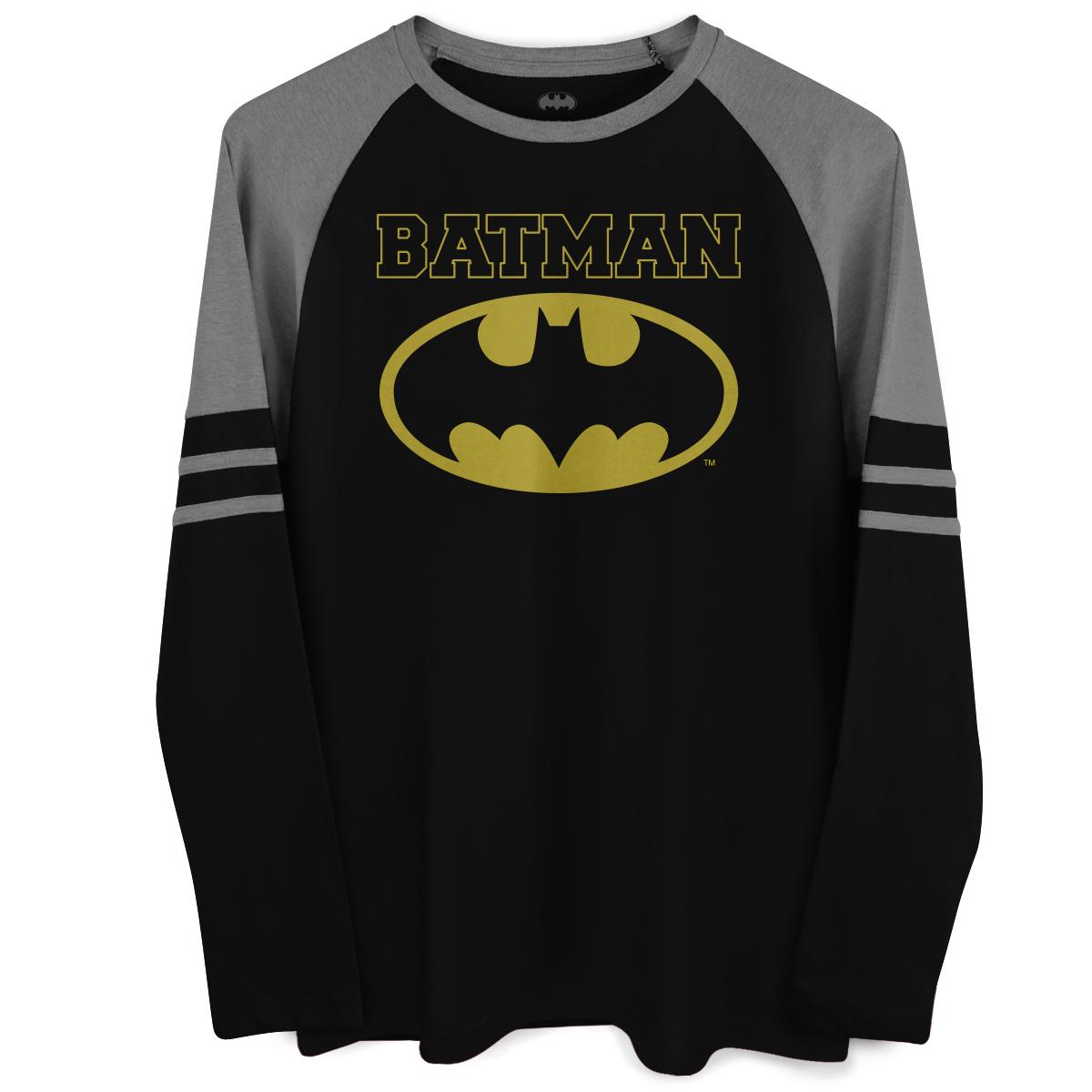 Blusa Raglan Masculina Batman Type  - bandUP Store Marketplace