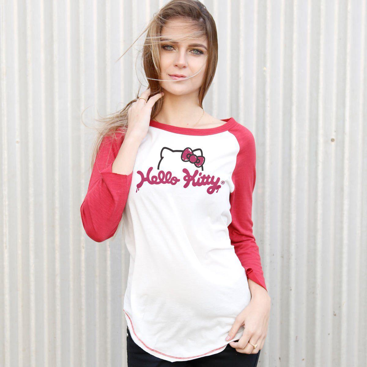 Camiseta Manga Longa Feminina Hello Kitty Charm  - bandUP Store Marketplace