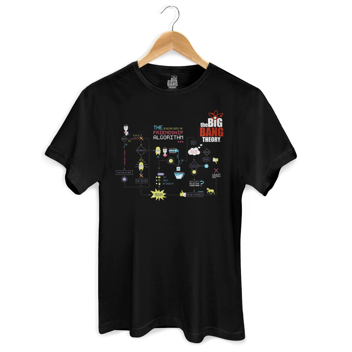 Camiseta Masculina The Big Bang Theory Friendship Algorithm  - bandUP Store Marketplace