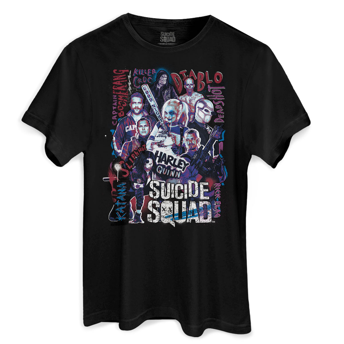Camiseta Masculina Esquadrão Suicida Cast  - bandUP Store Marketplace