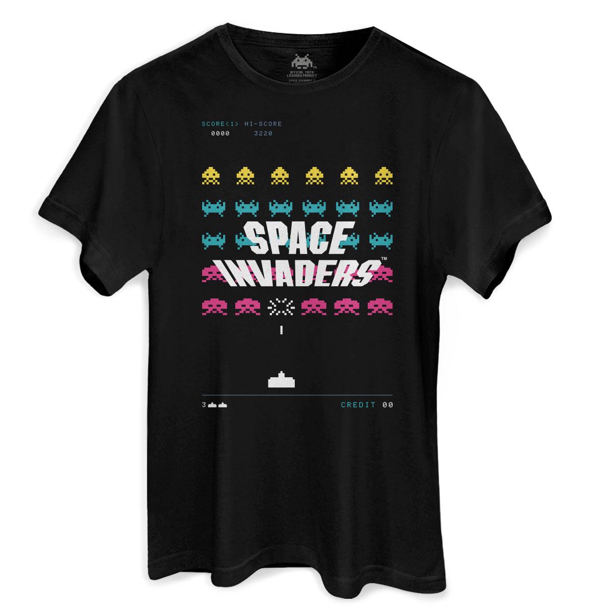 Camiseta Masculina Space Invaders Laser Base  - bandUP Store Marketplace