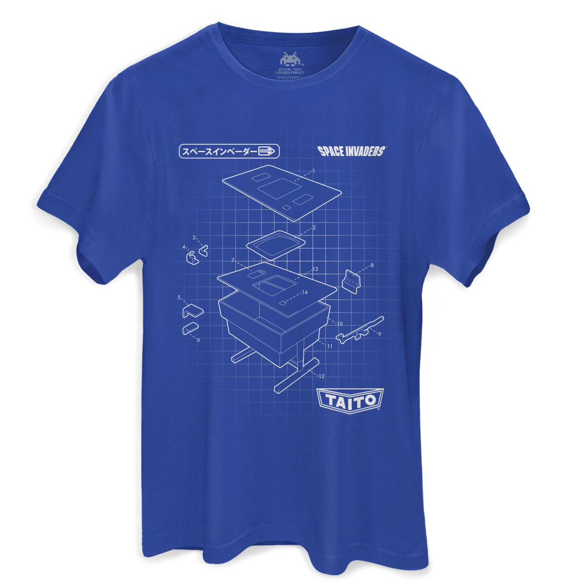 Camiseta Masculina Space Invaders TAITO Corporation  - bandUP Store Marketplace