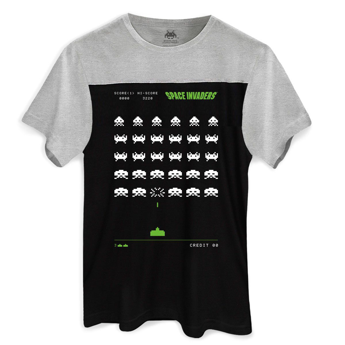 Camiseta Masculina BiColor Space Invaders Arcade  - bandUP Store Marketplace