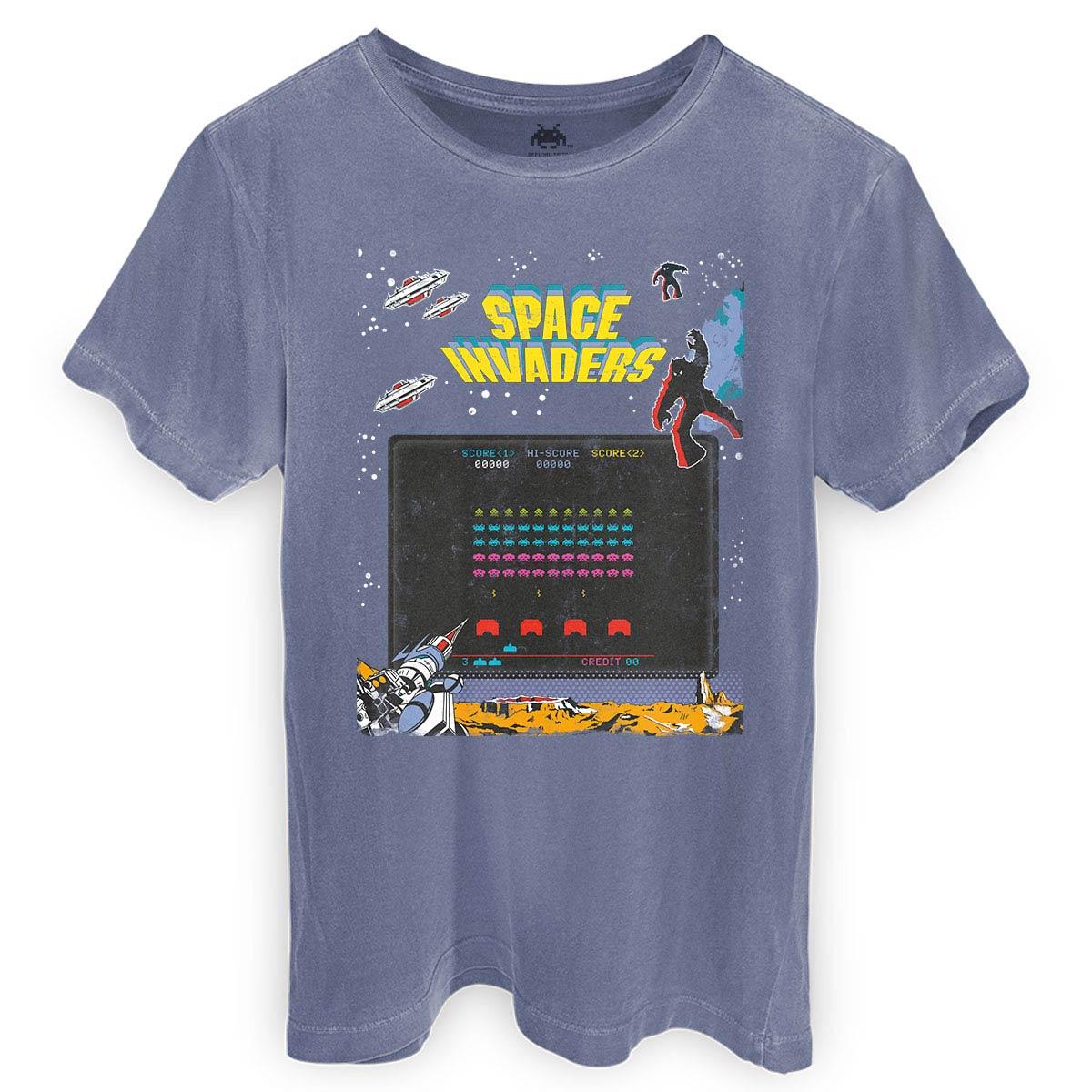 T-shirt Premium Masculina Space Invaders Screen  - bandUP Store Marketplace