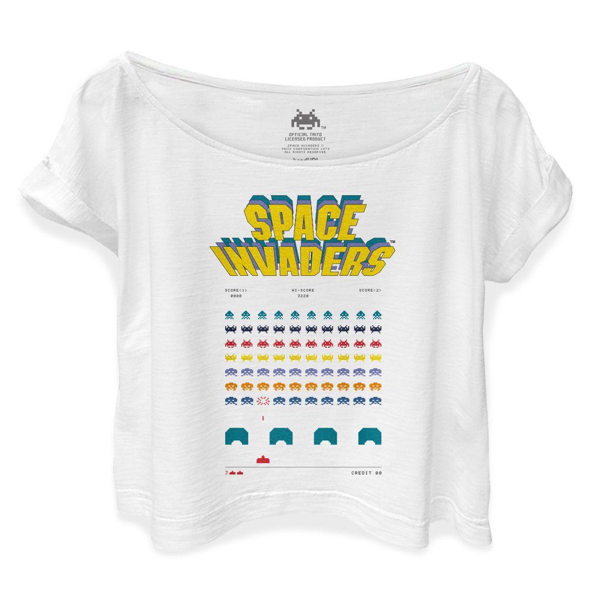 T-shirt Premium Feminina Space Invaders Game  - bandUP Store Marketplace