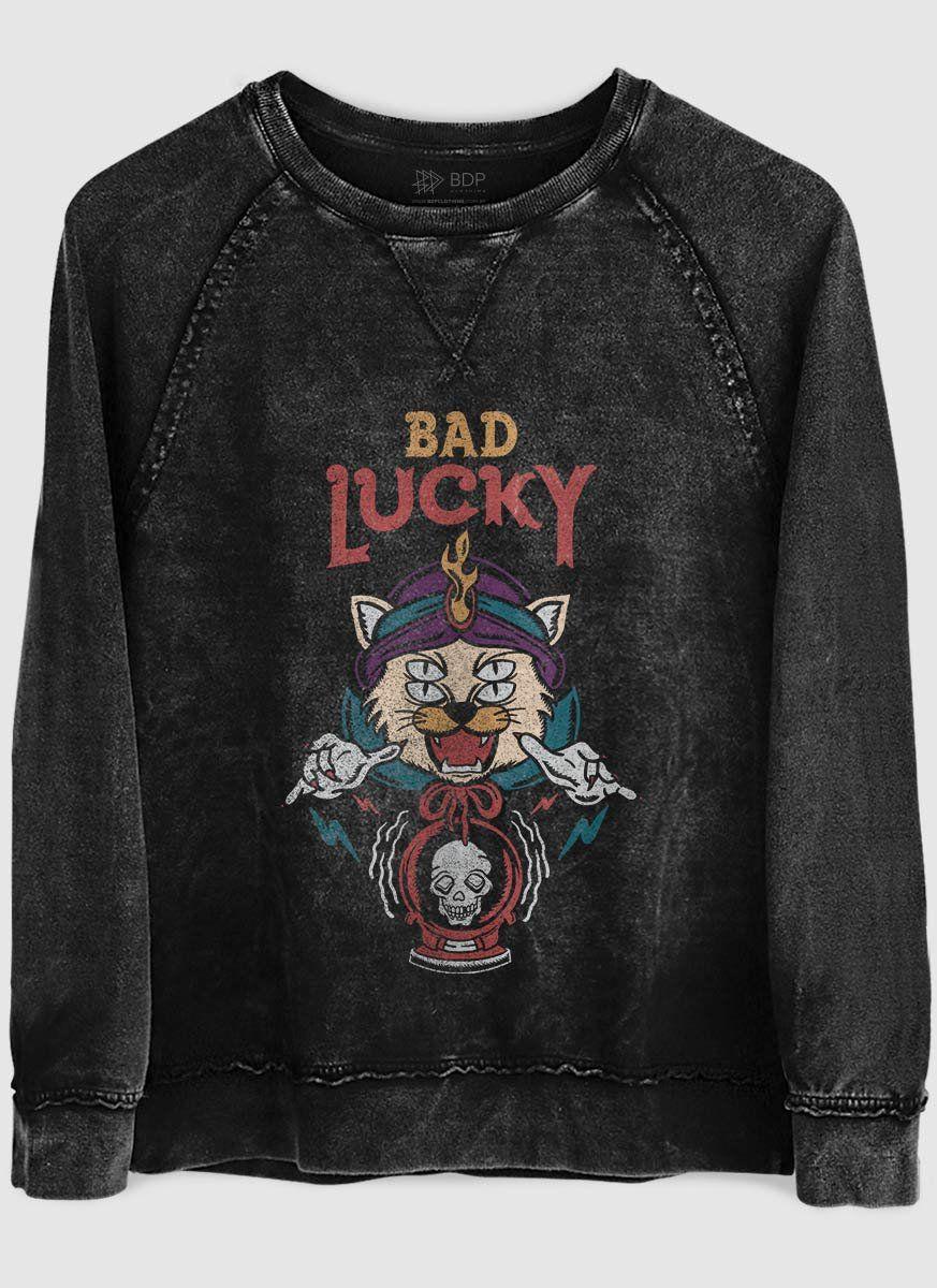 Moletinho Marmorizado Bad Lucky  - bandUP Store Marketplace