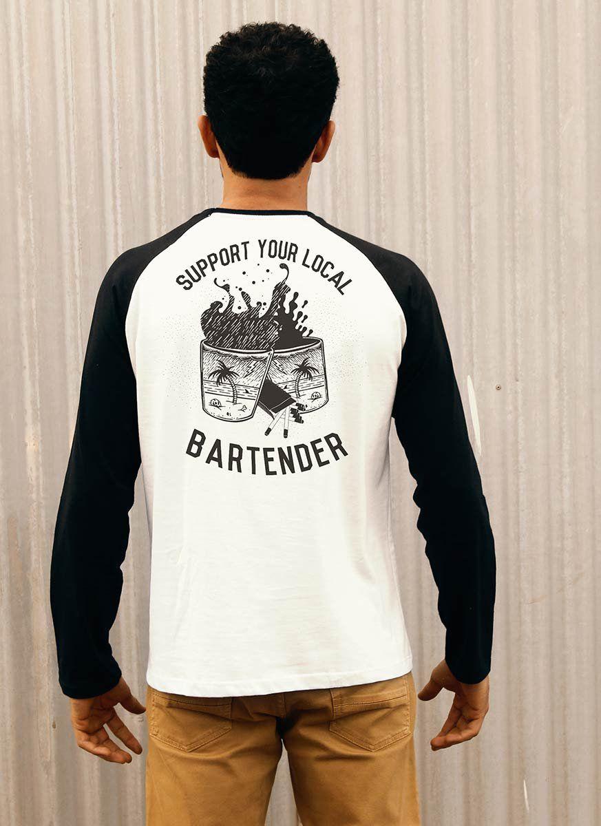 Camiseta Manga Longa Masculina Bartender  - bandUP Store Marketplace
