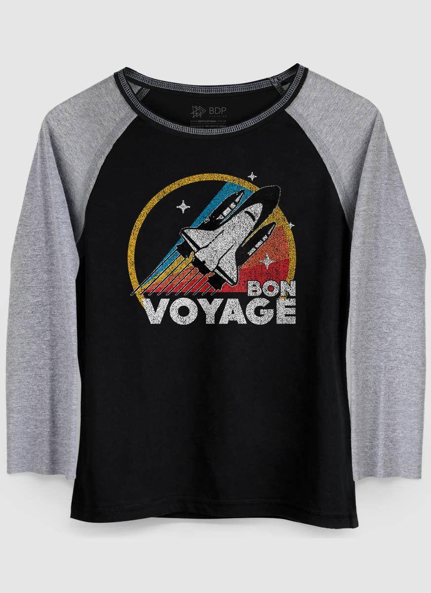 Camiseta Manga Longa Feminina Bon Voyage  - bandUP Store Marketplace