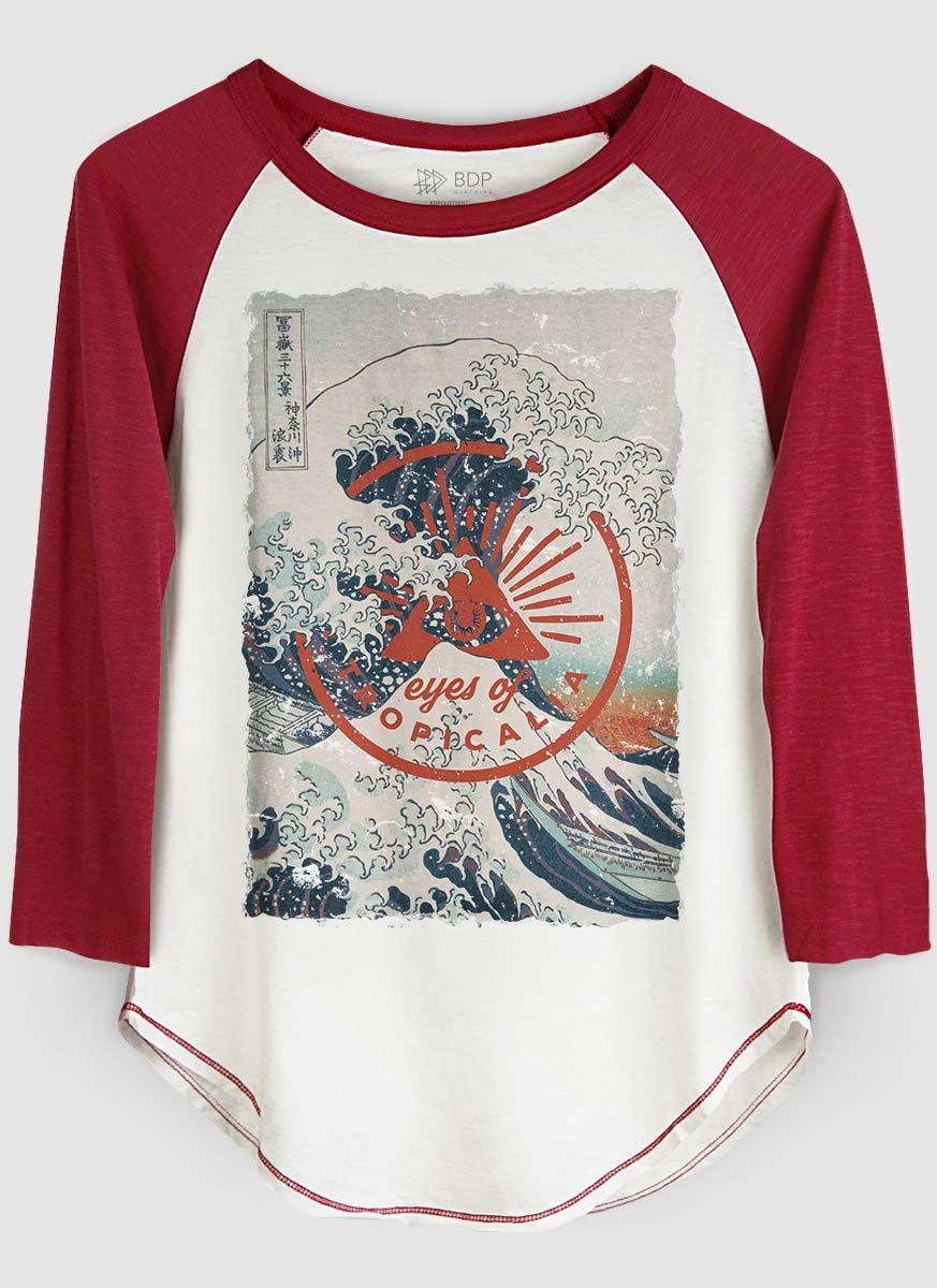 Camiseta Manga Longa Feminina Eyes of Tropicalia  - bandUP Store Marketplace