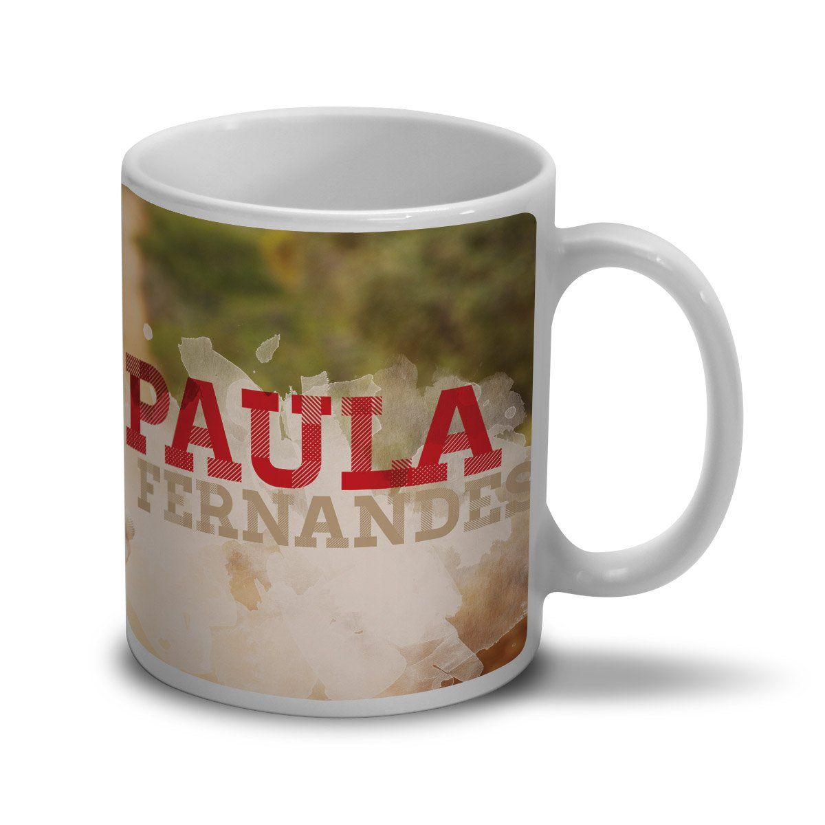 Caneca Paula Fernandes Foto Colors  - bandUP Store Marketplace