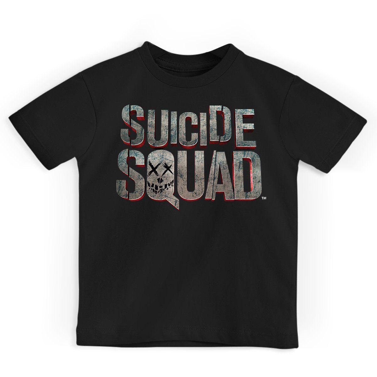 Camiseta Infantil Esquadrão Suicida Logo Oficial  - bandUP Store Marketplace