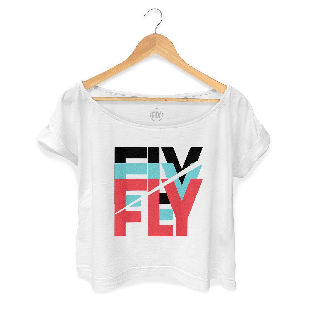 T-shirt Premium Feminina Banda Fly Logo Colors  - bandUP Store Marketplace
