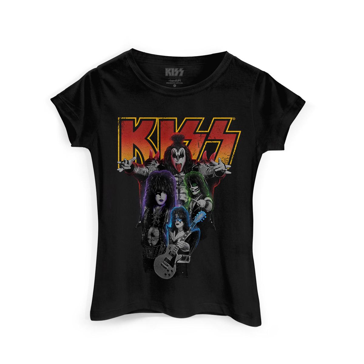 Camiseta Feminina Kiss Kissology  - bandUP Store Marketplace