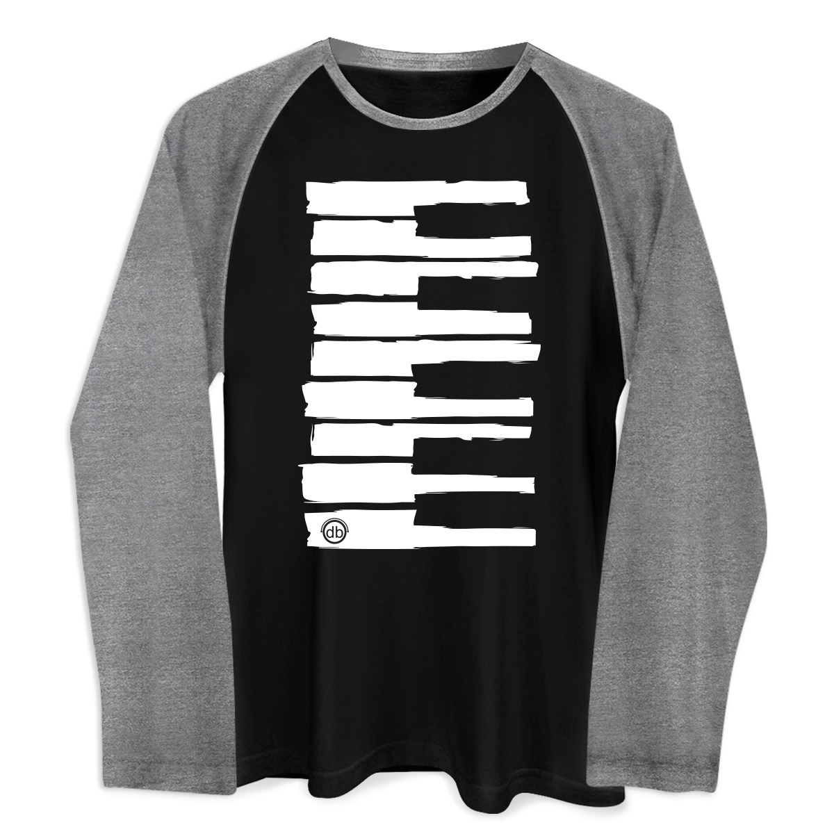 Camiseta Raglan Masculina Dudu Borges Musical Keyboard  - bandUP Store Marketplace