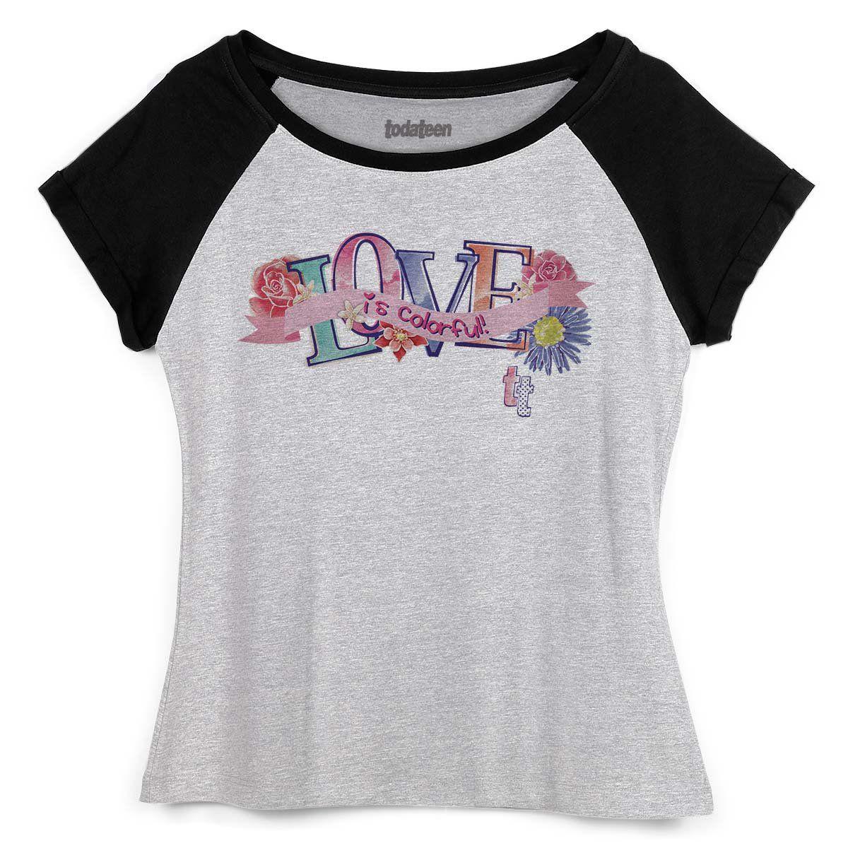 Camiseta Raglan Feminina TodaTeen Love is Colorful!  - bandUP Store Marketplace