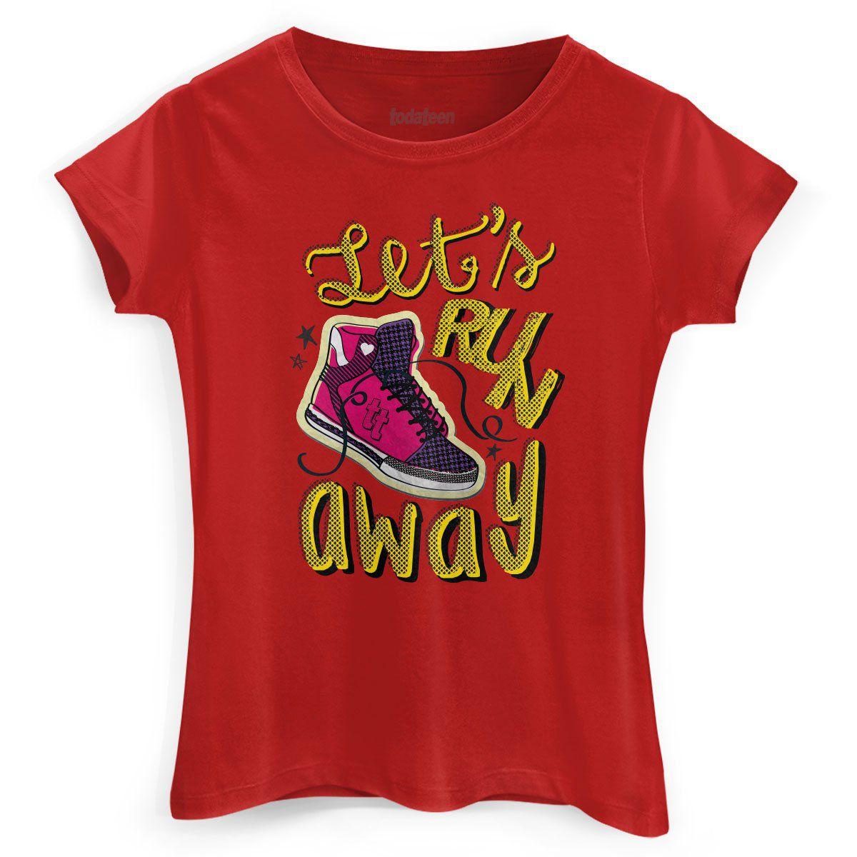 Camiseta Feminina TodaTeen Let´s Run Away  - bandUP Store Marketplace