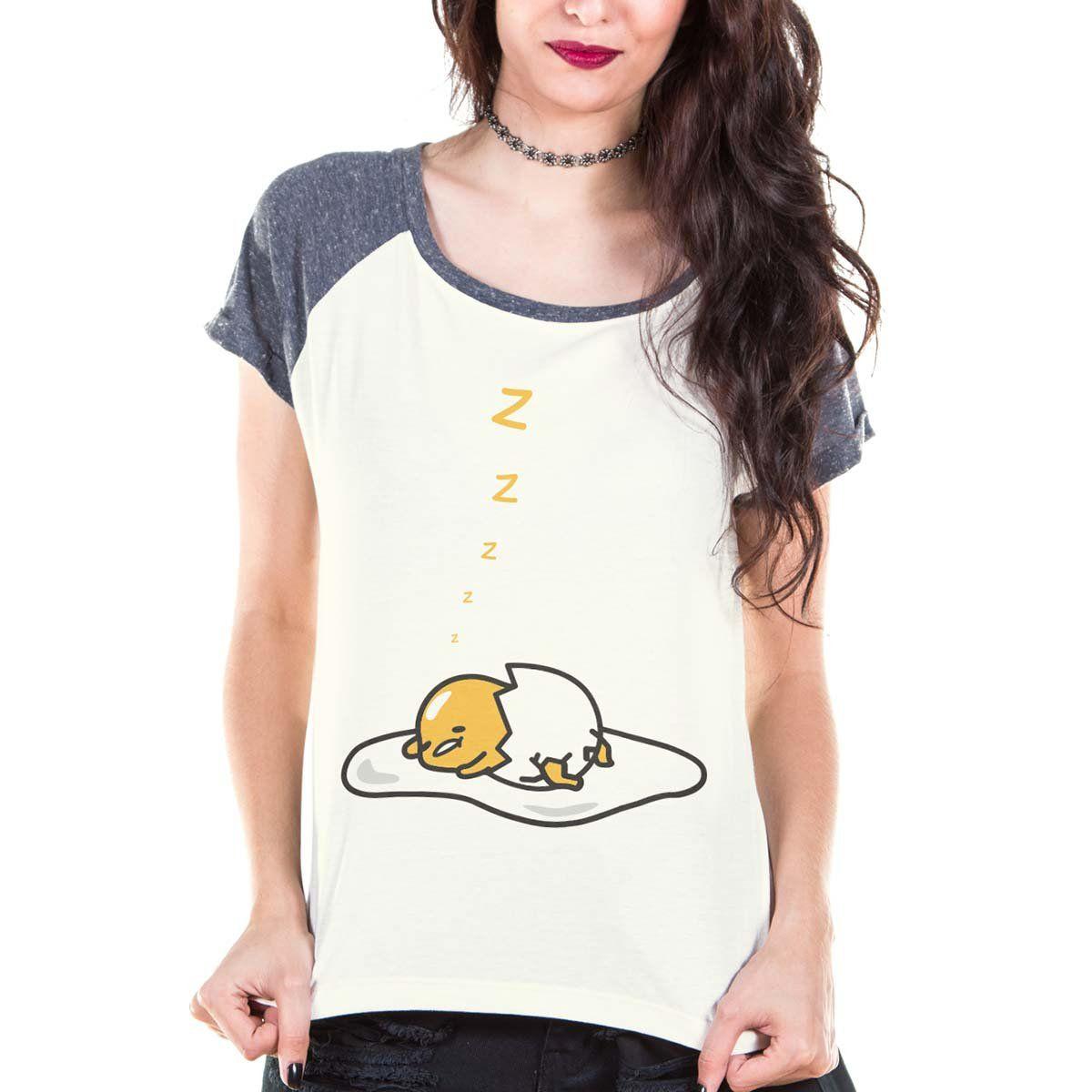 Camiseta Raglan Feminina Gudetama Cochilo  - bandUP Store Marketplace