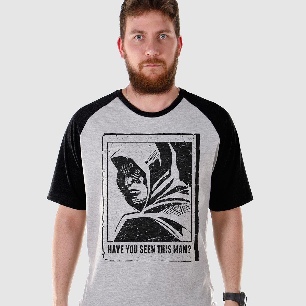 Camiseta Raglan Masculina Arrow Have You Seen This Man?  - bandUP Store Marketplace