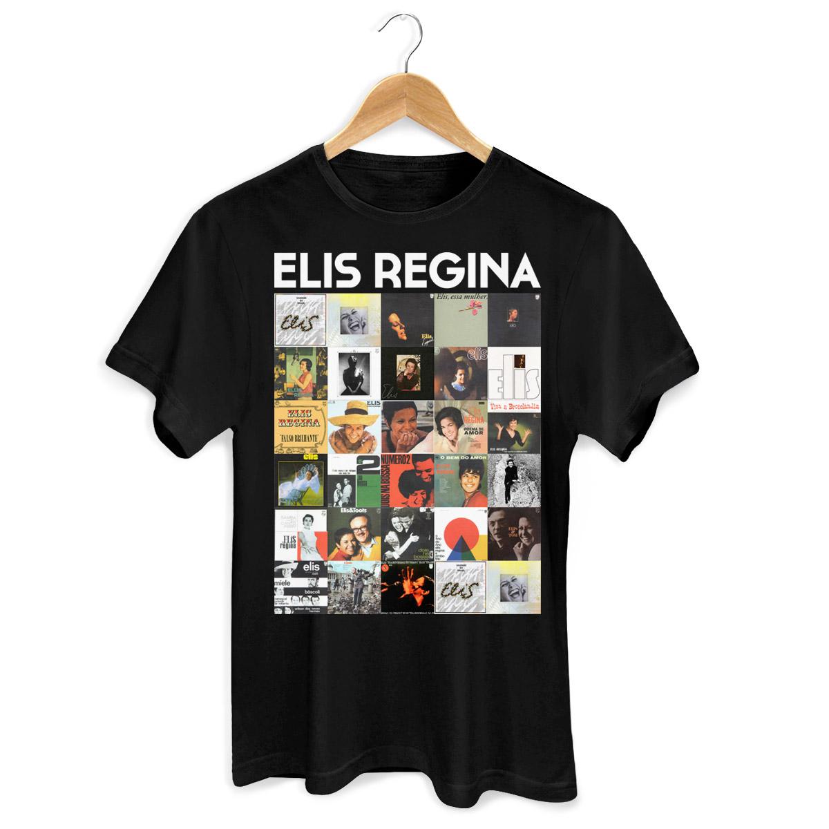 Camiseta Masculina Elis Regina Capas 2  - bandUP Store Marketplace