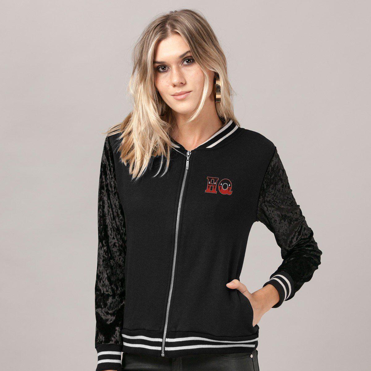 Jaqueta de Veludo Harley Quinn  - bandUP Store Marketplace