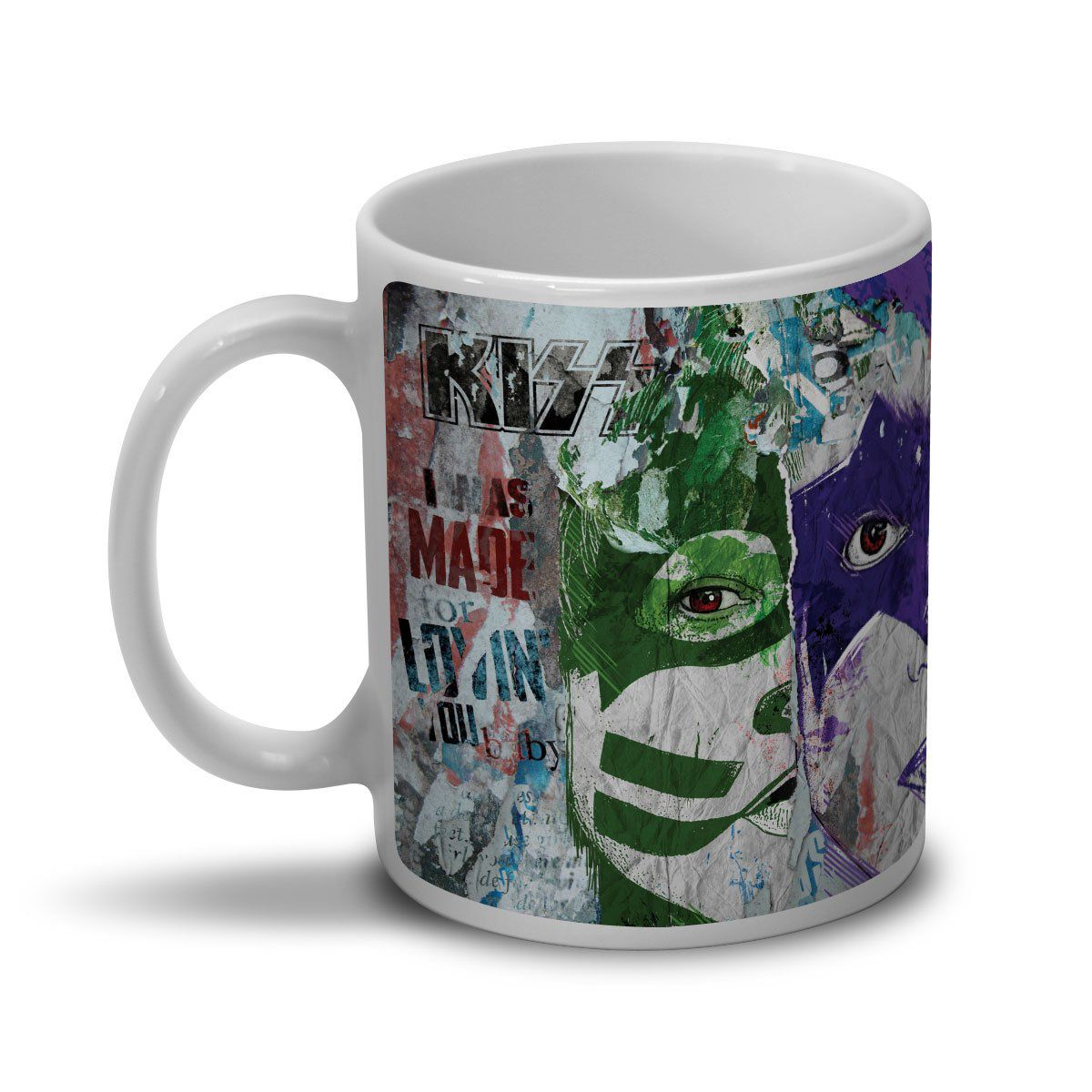 Caneca Kiss Rock And Roll  - bandUP Store Marketplace